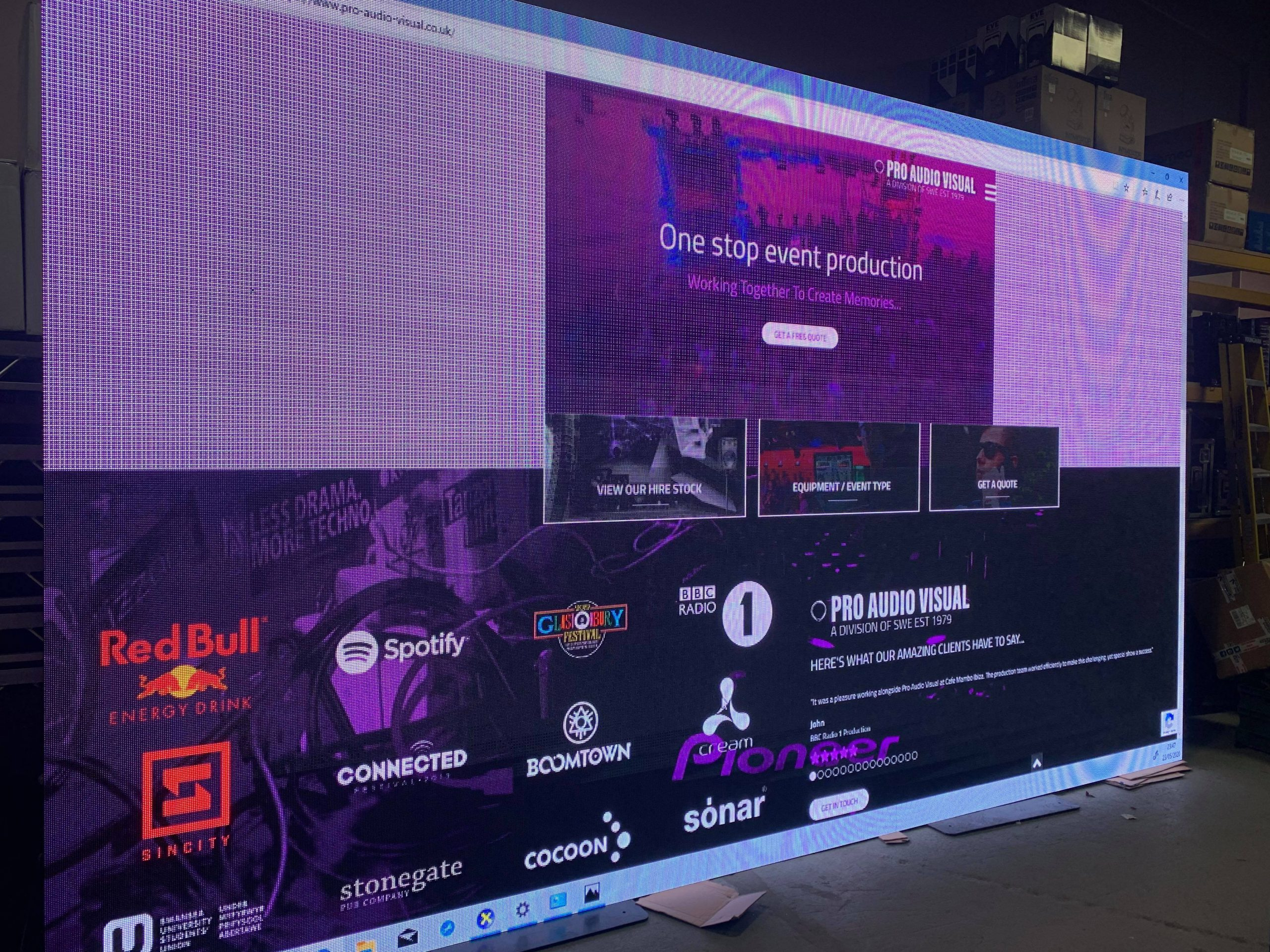 Investment News – LED Video Wall